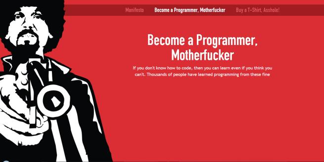 timeless design 6c243 61bd3 Become a Programmer, Motherfucker